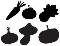Black colored vegetables Stock Image