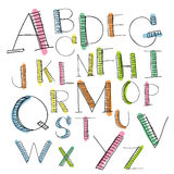 Black colorful alphabet uppercase letters Stock Photo
