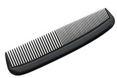 Black Comb. Compact Black Comb; isolated, Path icluded Royalty Free Stock Image