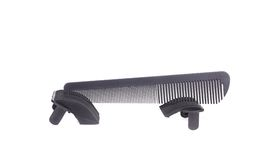 Black comb for hair. Stock Images