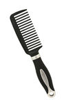 Black comb isolated on white Stock Image