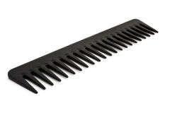Black comb isolated on white. Large black comb isolated on white Stock Images