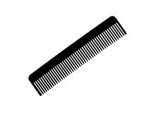 Black comb isolated on white Stock Photography
