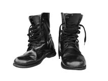 Black combat boot Royalty Free Stock Image