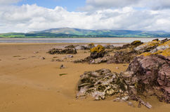 Black Combe from Dunnerholme. Dunnerholme beach near, Askam-in-Furness, looking over the Duddon Estuary with Black Combe in the distance Royalty Free Stock Photos