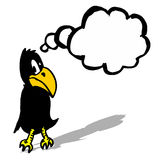 Black comic crow Royalty Free Stock Images