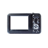 Black Compact Digital Camera. Compact digital camera rear view. Empty space for your picture or text Stock Images