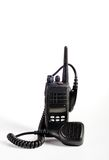 Black compact professional portable radio set. Royalty Free Stock Images