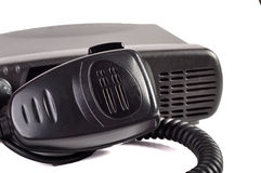 Black compact professional portable radio set. Royalty Free Stock Photos