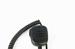 Black compact professional portable radio set. Royalty Free Stock Photography
