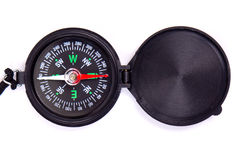 Black compass. On white Royalty Free Stock Photography