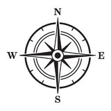 Black compass icon. Vector illustration royalty free illustration