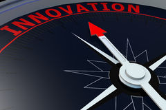 Black compass with innovation word on it Stock Photo