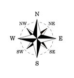 Black compass rose Stock Images