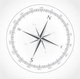 Black compass rose  on white Stock Image