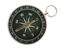 Black compass top view royalty free stock photo