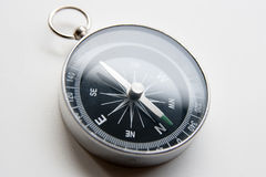 Black compass on a white background in perspective Stock Images