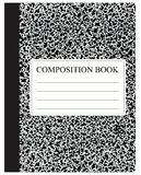 Black Composition Book Stock Photography