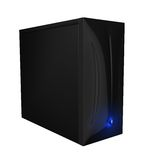 Black computer case 01 Royalty Free Stock Photography