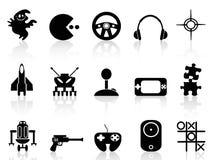 Black Computer Game Icon Stock Photos