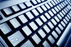 Black computer keyboard Royalty Free Stock Images