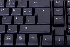 Black computer keyboard Stock Photography