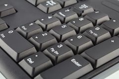 Black Computer Keyboard Stock Image