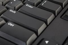 Black Computer Keyboard Royalty Free Stock Photography