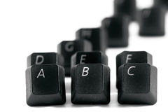 Black computer keys Royalty Free Stock Photos