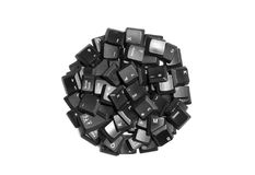 Black computer keys. Isolated on white Stock Photos