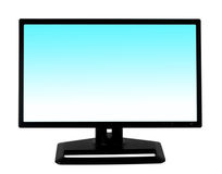 Black computer monitor. Isolated on white background Royalty Free Stock Photos