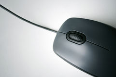 Black computer mouse Stock Images