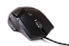 Black computer mouse isolated on white background Stock Photography