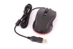 Black computer optical mouse Stock Photo