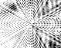 Black concentric dotted background. Vector monochrome background Royalty Free Stock Photo