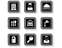 Hotel services buttons set Royalty Free Stock Image