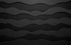 Black concept wavy abstract background Stock Photo