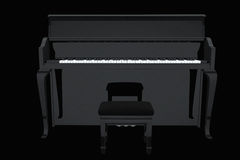Black concert piano Stock Photo
