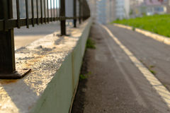 Black and Concrete Railings Stock Image