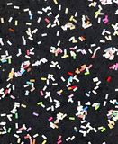 Black Confetti Royalty Free Stock Images
