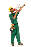 Black construction worker Royalty Free Stock Photo