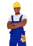 Black construction worker Royalty Free Stock Photography
