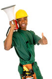 Black construction worker Stock Photography