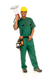 Black construction worker Stock Images