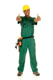 Black construction worker Royalty Free Stock Images