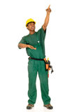 Black construction worker Stock Photos