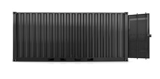 Black container Stock Image