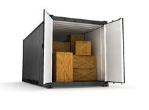 Black container Stock Photo