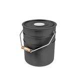 Black container with white paint Stock Photography