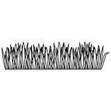 Black contour of field grass. Illustration Royalty Free Stock Image